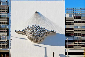 'Cradle Installation' by Ball Nogues, part of the public art initiative