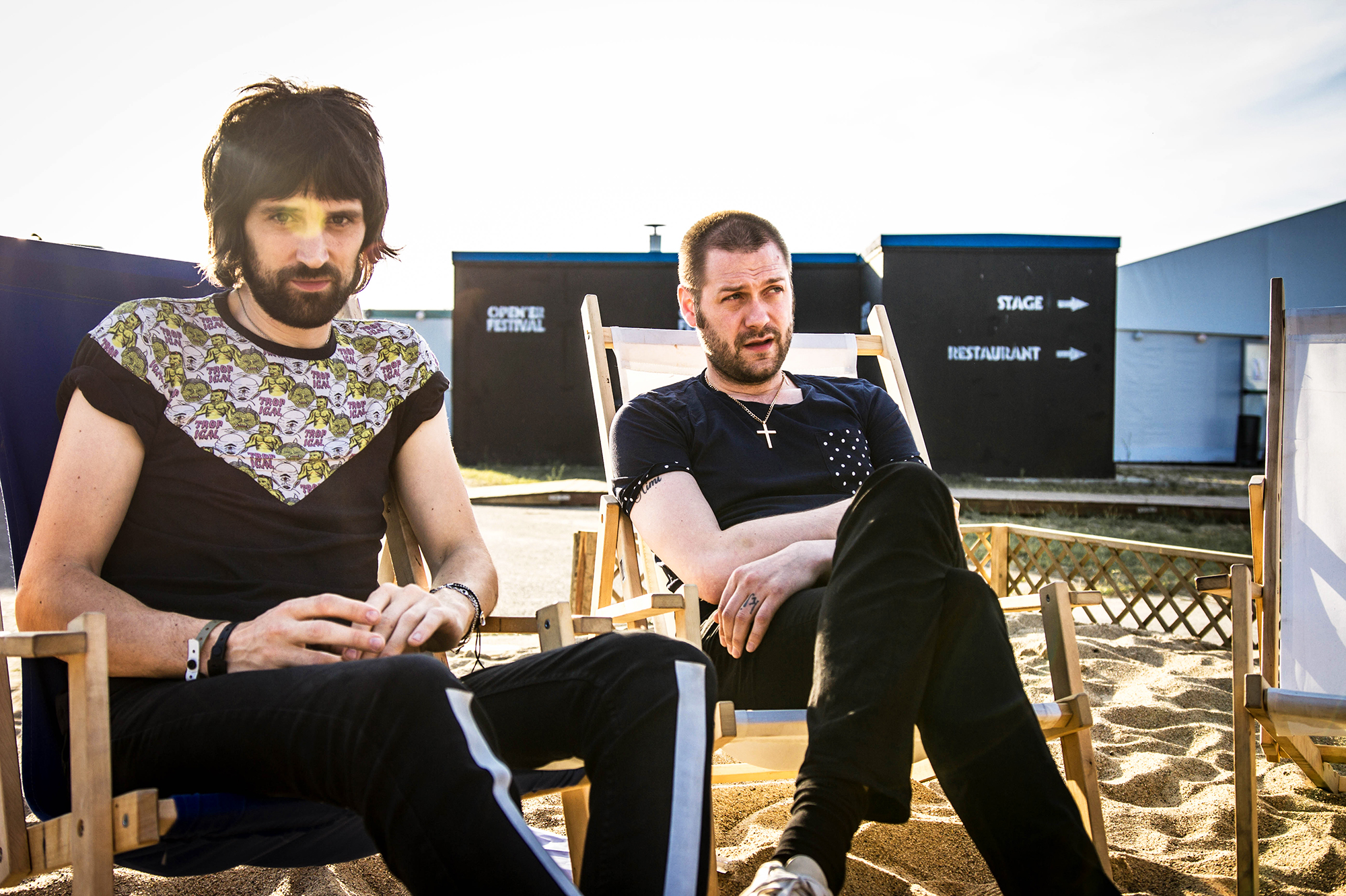 Kasabian backstage on the final day of Poland's Open'er Festival - © Z.Sosnowska:AlterArt_01