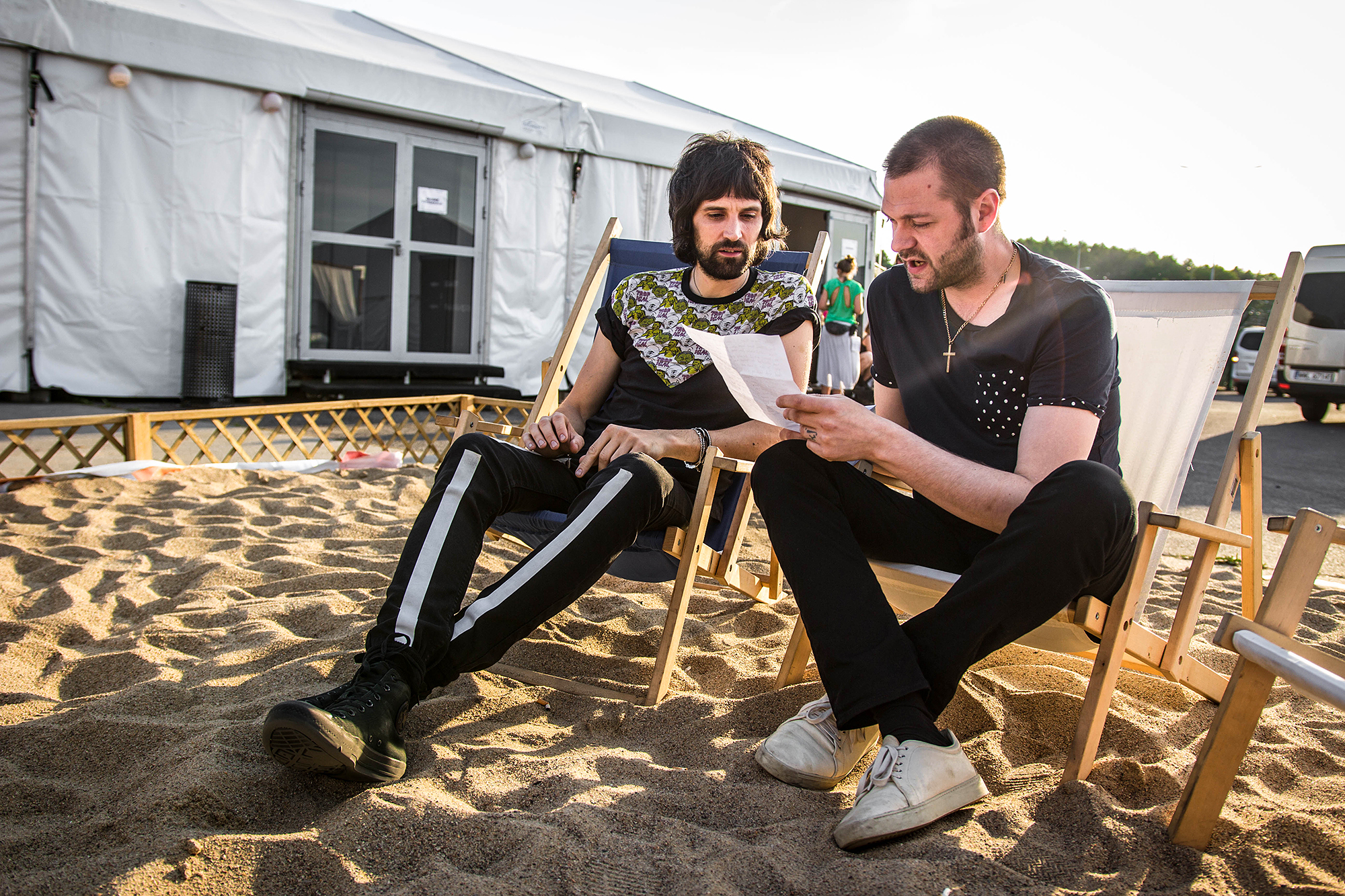Kasabian backstage on the final day of Poland's Open'er Festival - © Z.Sosnowska:AlterArt_02