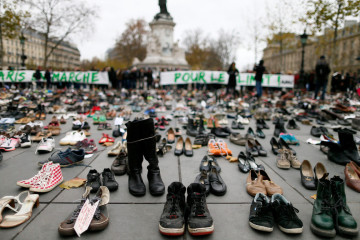 Paris climate protesters_shoes_culture and life_01