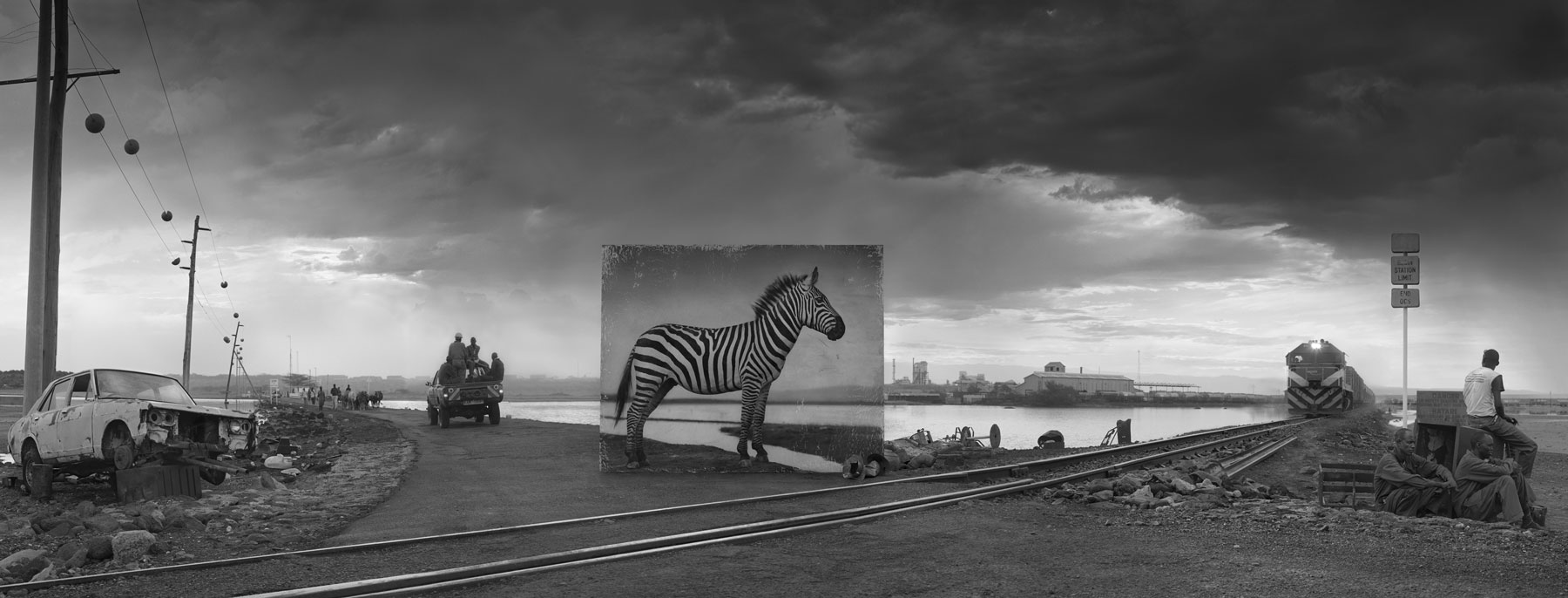 Nick Brandt_Inherit The Dust_ROAD-TO-FACTORY-WITH-ZEBRA
