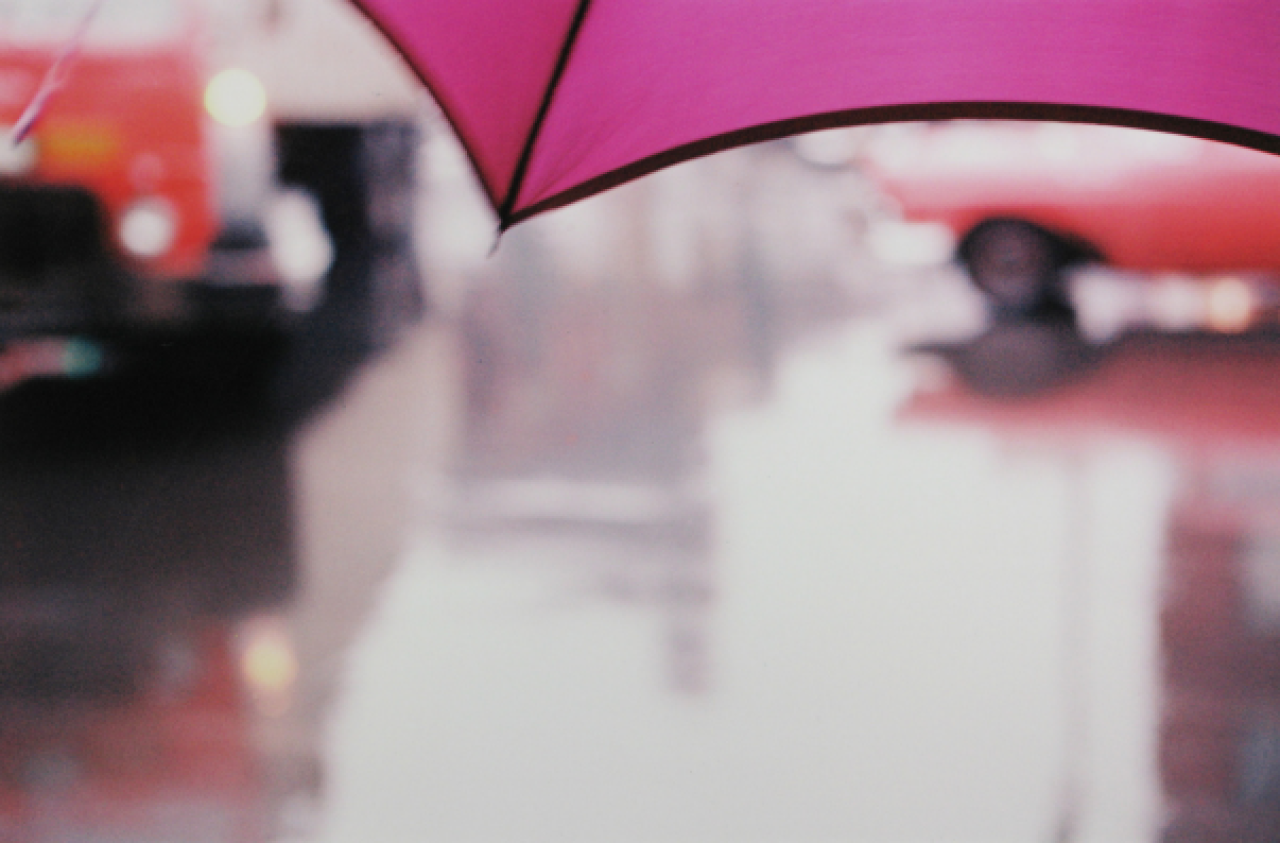 Saul Leiter Purple Umbrella