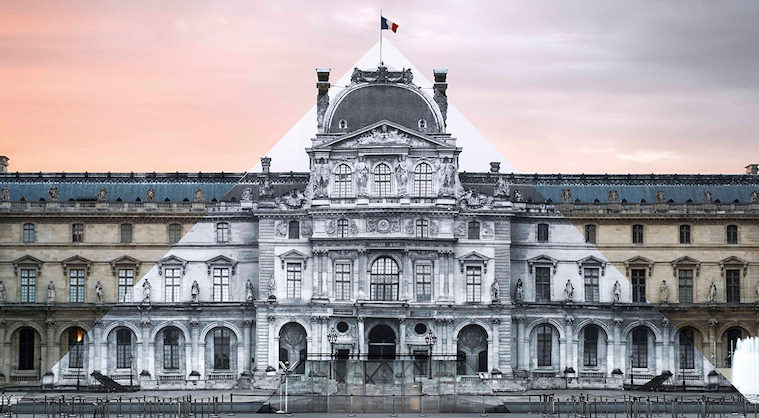 Artist JR makes the iconic Louvre pyramid disappear_00