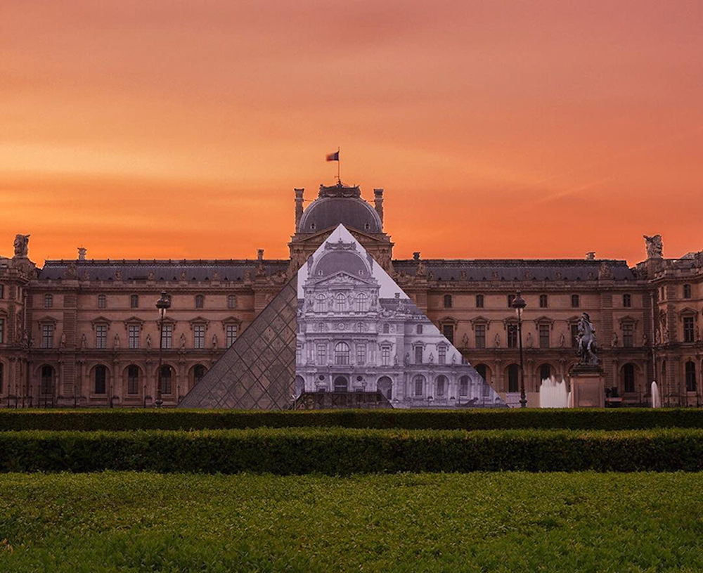 Artist JR makes the iconic Louvre pyramid disappear_01