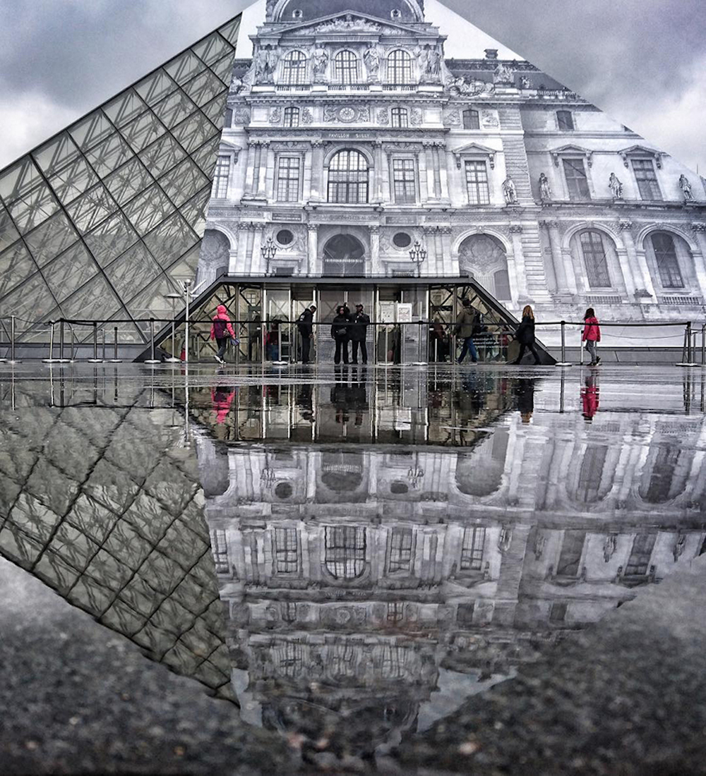Artist JR makes the iconic Louvre pyramid disappear_05
