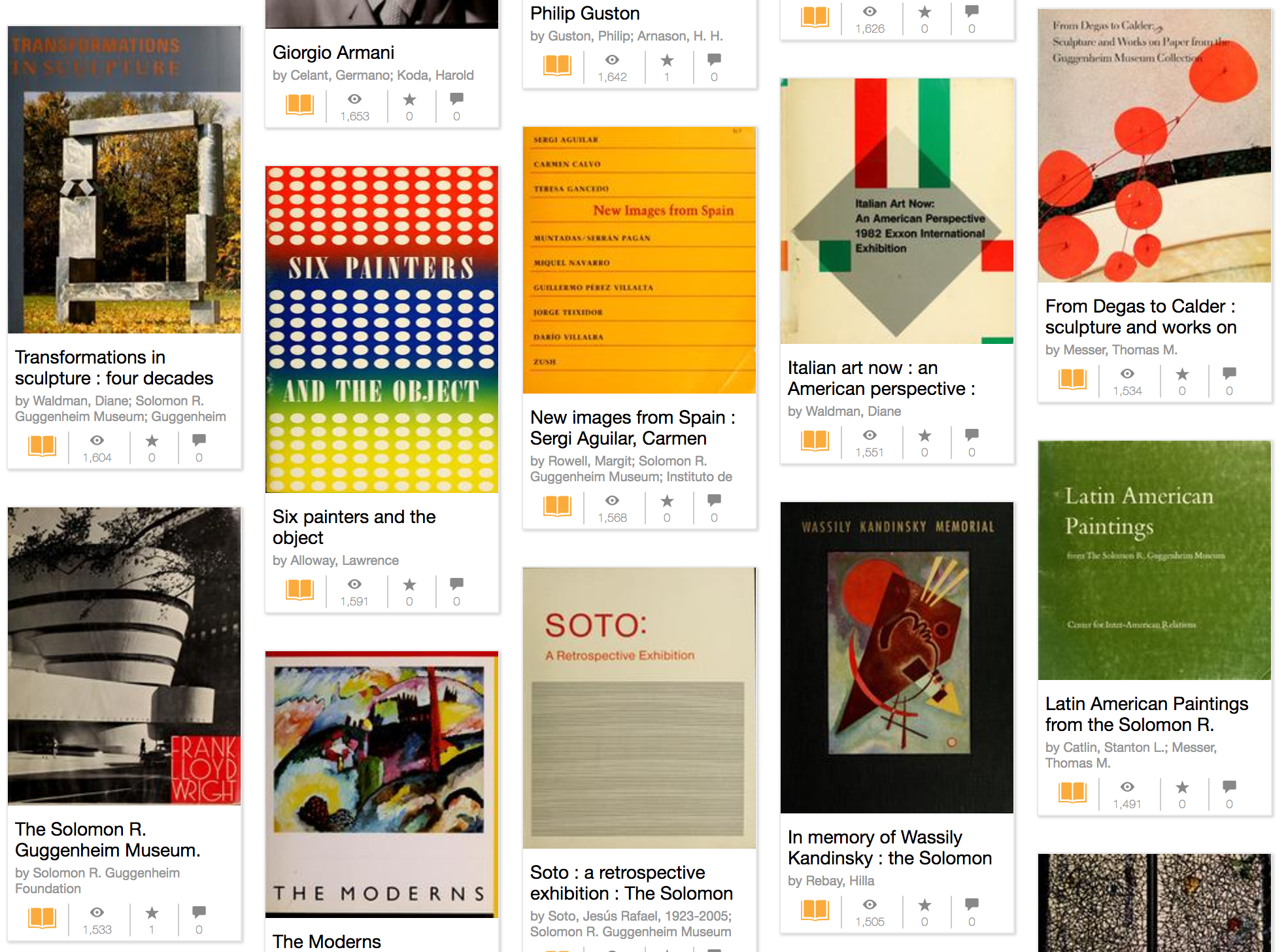 Guggenheim Art Books
